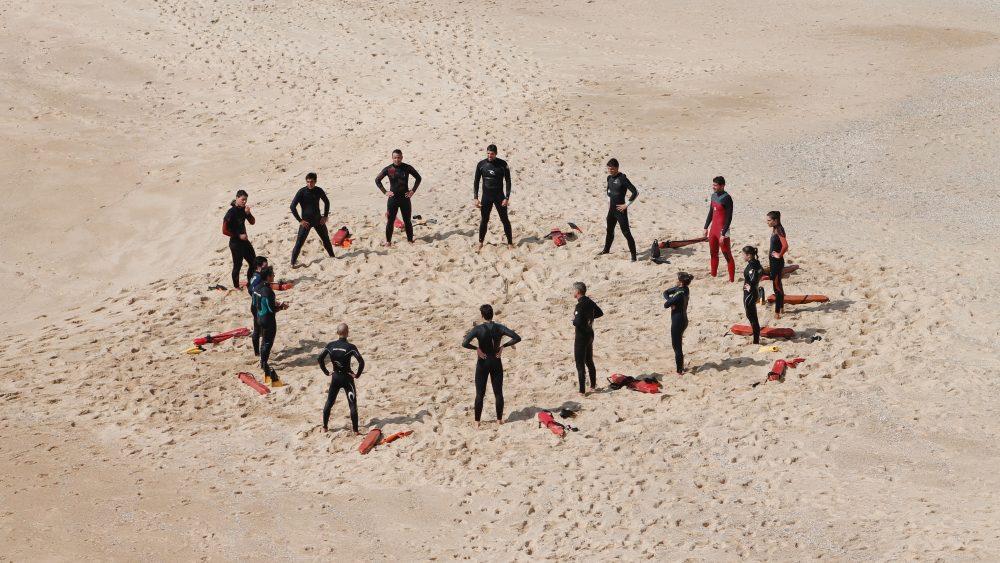 Übungsgruppe im Kurs